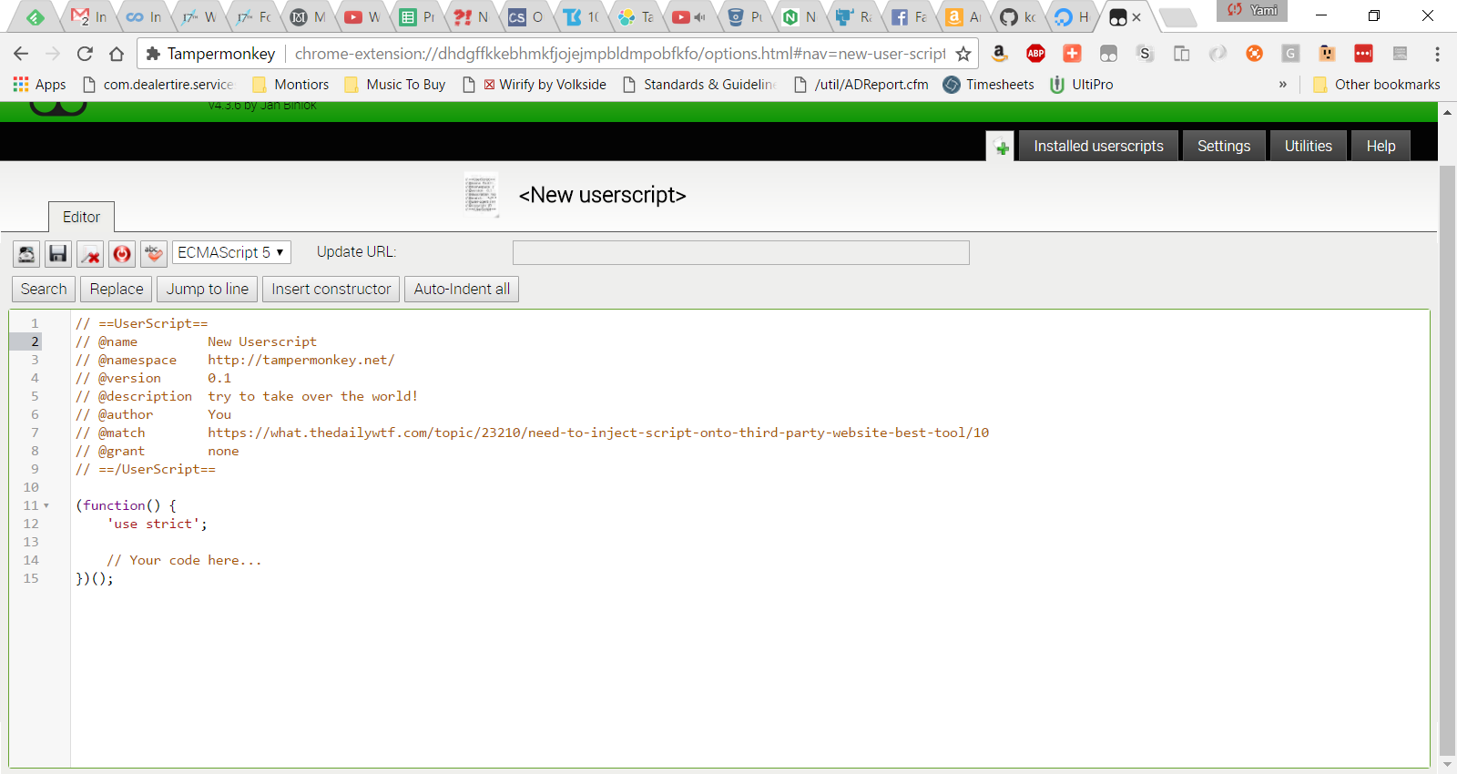Need to inject script onto third-party website-- best tool? - What