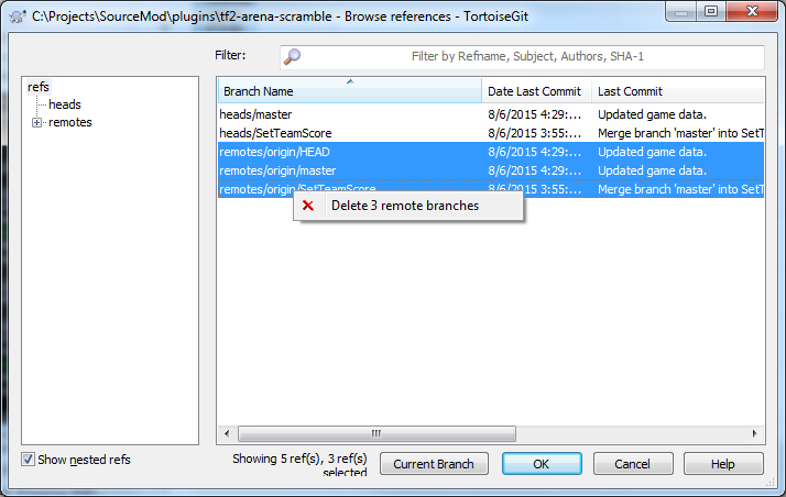 Hey SourceTree, I WANNA DELETE MY LOCAL BRANCH MESSINESS! - What the